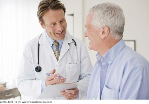 Doctor talking with patient in doctor?s office